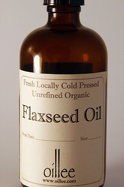 cold pressed local organic flax seed oil