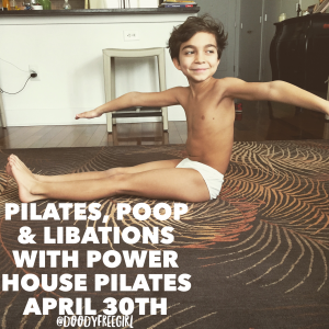 boy doing pilates at home